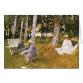 Claude Monet Painting Edge of a Wood by Sargent Card