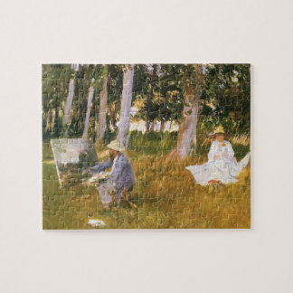 Claude Monet Painting, Edge of a Wood by Sargent Jigsaw Puzzle