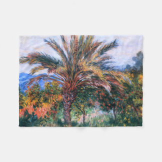 Claude Monet: Palm Tree at Bordighera Fleece Blanket