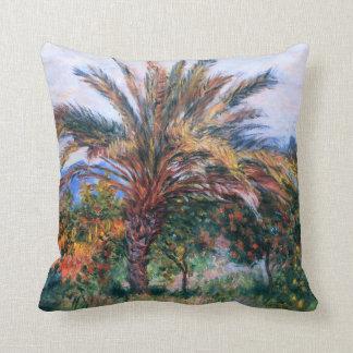 Claude Monet: Palm Tree at Bordighera Throw Pillow