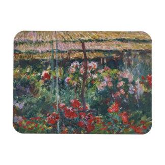 Claude Monet - Peony Garden Rectangular Photo Magnet