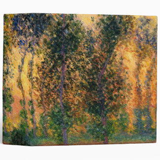 Claude Monet: Poplars at Giverny in Sunrise Vinyl Binder