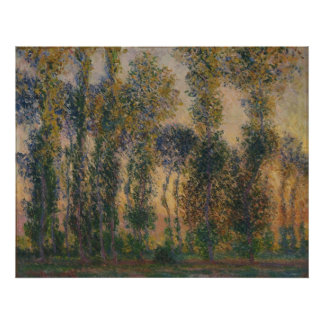 Claude Monet - Poplars at Giverny, Sunrise Poster
