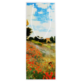 Claude Monet-Poppies at Argenteuil Wine Gift Bag