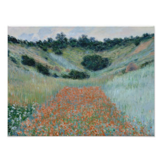 Claude Monet - Poppy Field in a Hollow near Givern Photo Print