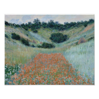 Claude Monet - Poppy Field in a Hollow near Givern Photographic Print