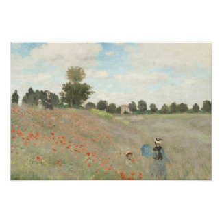 Claude Monet - Poppy Field Photograph