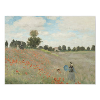 Claude Monet - Poppy Field Photographic Print