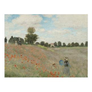 Claude Monet - Poppy Field Postcard