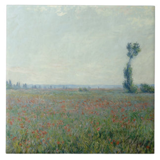 Claude Monet - Poppy Field Tile