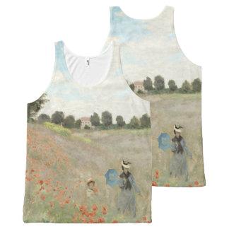 Claude Monet Poppy Field Wild Flowers Tank Top
