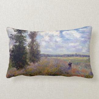 Claude Monet Poppy Fields near Argenteuil Lumbar Pillow