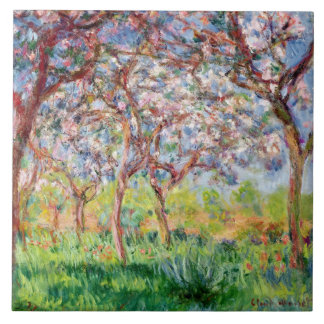 Claude Monet | Printemps a Giverny Tile
