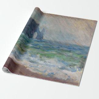 Claude Monet Rainfall Etretat Normandy France Wrapping Paper
