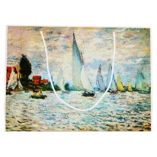 Claude Monet-Regatta at Argenteuil Large Gift Bag