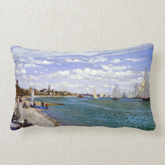 Claude Monet Regatta at Sainte-Adresse Lumbar Pillow