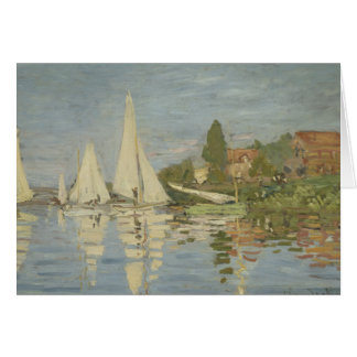 Claude Monet - Regattas at Argenteuil Card