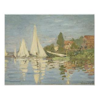 Claude Monet - Regattas at Argenteuil Photo Print