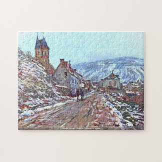 Claude Monet - Road to Vetheuil in winter Jigsaw Puzzle