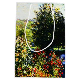 Claude Monet-Roses in the Garden at Montgeron Medium Gift Bag