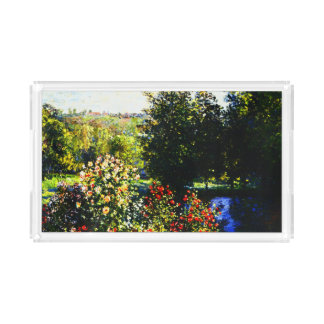 Claude Monet-Roses in the Garden at Montgeron Serving Tray