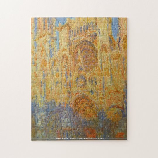 Claude Monet - Rouen Cathedral Facade at Sunset Jigsaw Puzzle
