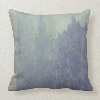 Claude Monet | Rouen Cathedral, Foggy Weather Throw Pillow