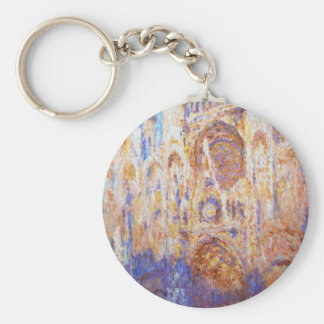 Claude Monet - Rouen Cathedral Keychain