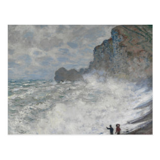 Claude Monet - Rough Weather at Étretat Postcard