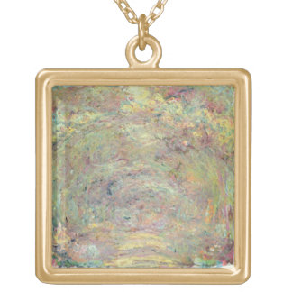 Claude Monet   Shaded Path Gold Plated Necklace