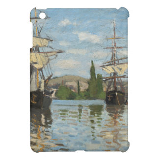 Claude Monet Ships Riding on the Seine at Rouen iPad Mini Covers