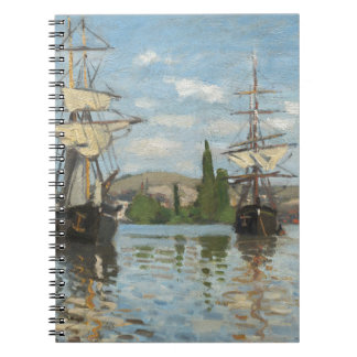 Claude Monet Ships Riding on the Seine at Rouen Notebook
