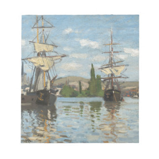 Claude Monet Ships Riding on the Seine at Rouen Notepad