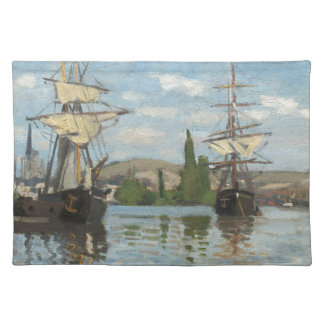 Claude Monet Ships Riding on the Seine at Rouen Placemat