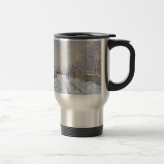 Claude Monet // Snow at Argenteuil 15 Oz Stainless Steel Travel Mug