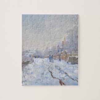 Claude Monet // Snow at Argenteuil Jigsaw Puzzle