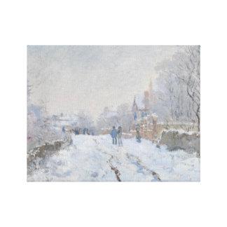 Claude Monet - Snow Scene at Argenteuil Canvas Print