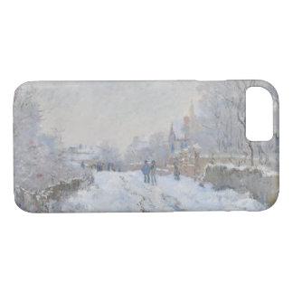 Claude Monet - Snow Scene at Argenteuil Case-Mate iPhone Case