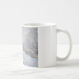 Claude Monet - Snow Scene at Argenteuil Coffee Mug