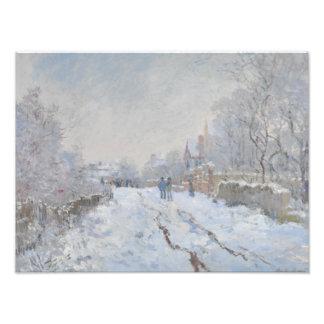 Claude Monet - Snow Scene at Argenteuil Photo Print