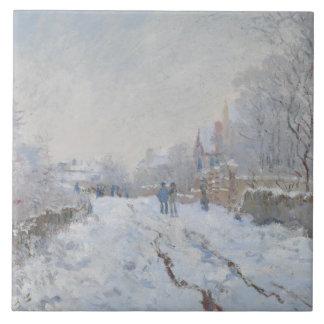 Claude Monet - Snow Scene at Argenteuil Tile