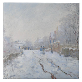 Claude Monet - Snow Scene at Argenteuil Tiles