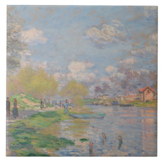 Claude Monet - Spring by the Seine Ceramic Tiles