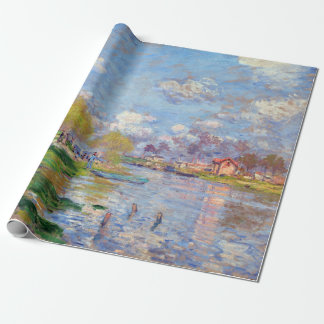 Claude Monet Spring by the Seine Wrapping Paper