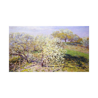 Claude Monet Spring (Fruit Trees in Bloom) Canvas Print