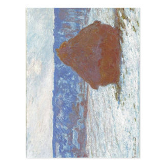 Claude Monet Stack of Wheat (Snow Effect, Overcast Postcard