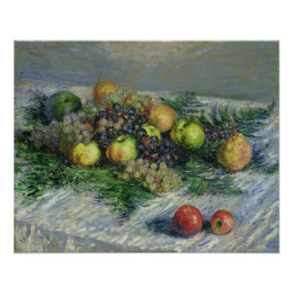 Claude Monet | Still Life with Pears and Grapes Poster
