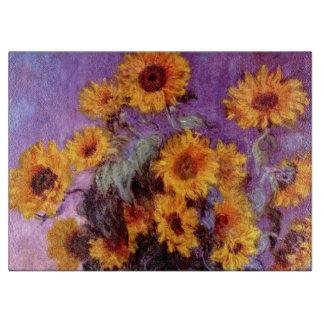 Claude Monet: Sunflowers Cutting Board