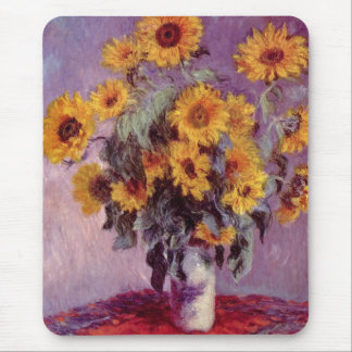 Claude Monet // Sunflowers Mouse Pad