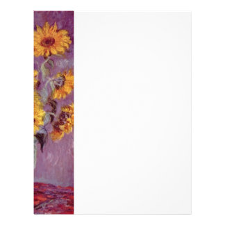 Claude Monet // Sunflowers Personalized Letterhead